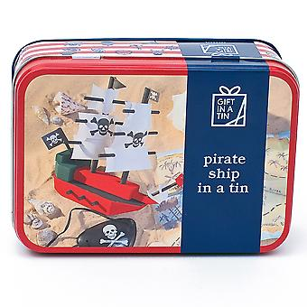 Pirate Ship In A Tin - Construction Kit - Luxury Gift Item