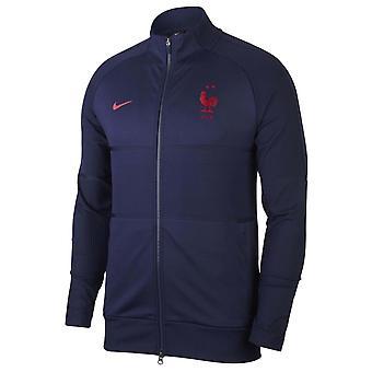 2020-2021 Ranska Nike Strike Anthem Jacket (laivasto)