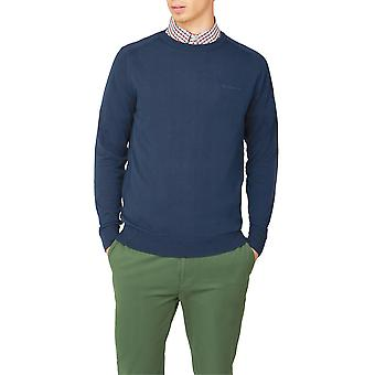 Ink Blue Crew-Neck Jumper