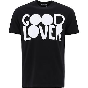 Valentino Uv0mg08u6y30ni Männer's schwarze Baumwolle T-shirt