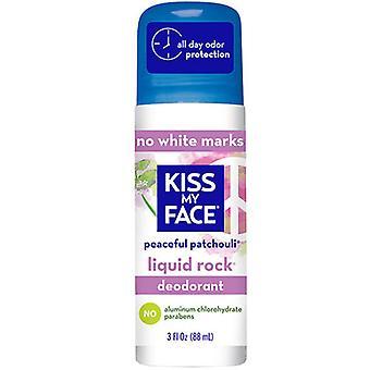 Kiss My Face Liquid Rock Roll-On Deodorant, Patchouli 3OZ