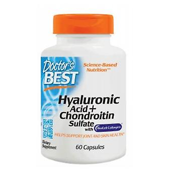 أفضل الأطباء حمض الهيالورونيكس + Chondroitin كبريتات، 100 ملغ، 60 قبعات