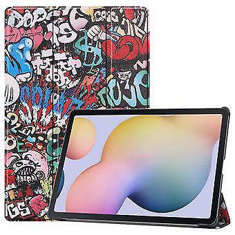 Slim Fit Cover Fodral Till Samsung Galaxy Tab S7 Plus - Graffiti