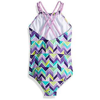 Kanu Surf Big Girls' Jasmine Beach Sport Halter One Piece Swimsuit, Ruby Purp...