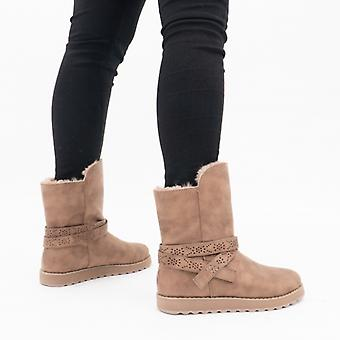 Skechers Keepsakes 2.0 Ladies Mid Calf Boots Taupe