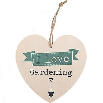 Something Different Love Gardening Hanging Heart Sign