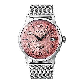 Seiko SRPE47J1 Presage Pink & Silver Mesh Limited Edition Automatic Men's Watch