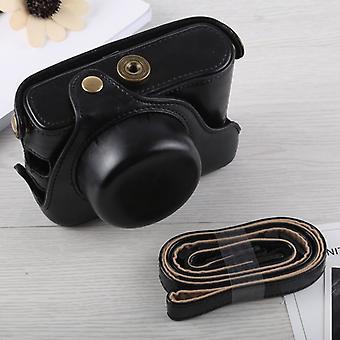 Full Body Camera PU Leather Case Bag met strap voor Fujifilm X100F (Zwart)