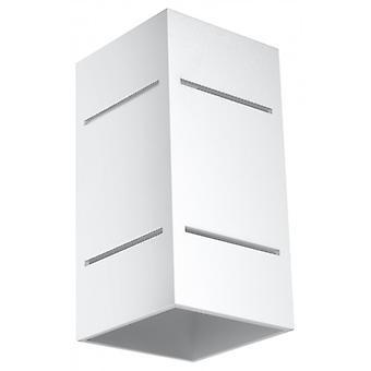Blocco hvid aluminium væg lys 1 pære