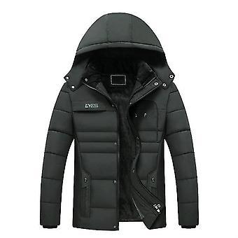 New Winter Jacket Men Thicken Warm Parkas Hooded Coat Fleece Outwear Jaqueta