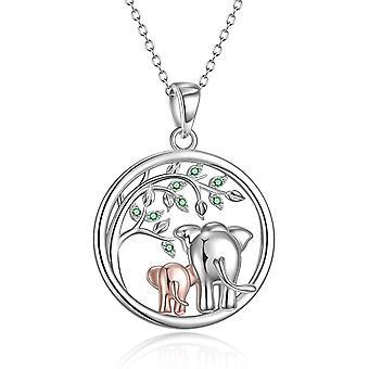 YFN Sterling Silver Penguin/Elephant/Owl/Ladybird/Panda/Sloth/Giraffe Necklace