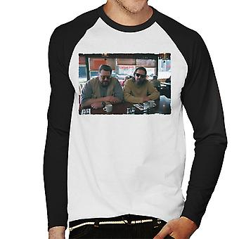 The Big Lebowski The Dude And Walter Coffee Shop Scene Men's Baseball Long Sleeved T-Shirt
