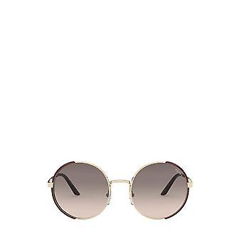 Prada PR 59XS pale gold / brown female sunglasses