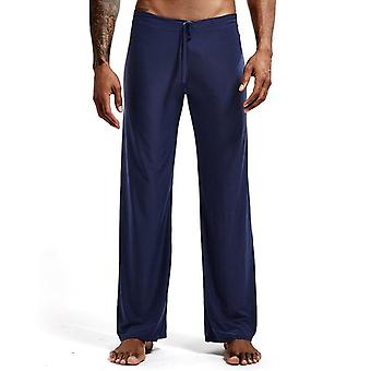 Men's Sleep Bottoms Casual Trousers, Soft Comfortable Homewear Pants Pajama