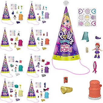 3-Pack Polly Pocket Party Pops Micro Playset Figure Doll Mini Doll