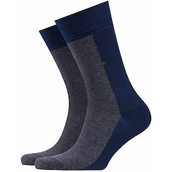Burlington Joker Socks - Marine Blue/Grey