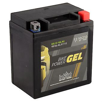 intAct YB10L-A2 / 51112 Gel Bike-Power Battery