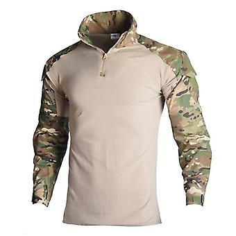 Exército Militar Manga Longa Camuflagem Camisa Tática Caça Combate Multicam