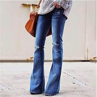 Jeans Casual Women's Trousers Plus Size Flared Pants Explosion Models High