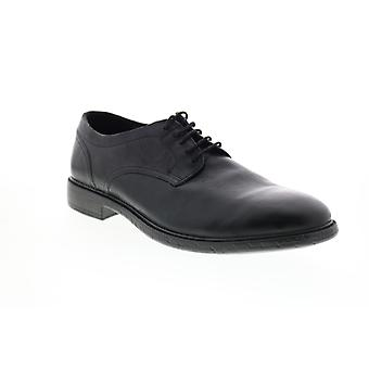 Geox U Terence Mens Black Leather Oxfords & Lace Ups Plain Toe Shoes