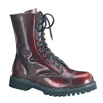 Demonia Unisex Shoes ROCKY-10 Bourgogne Cuir déteint