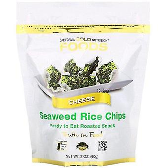 California Gold Nutrition, Seaweed Rice Chips, Cheese, 2 oz (60 g)