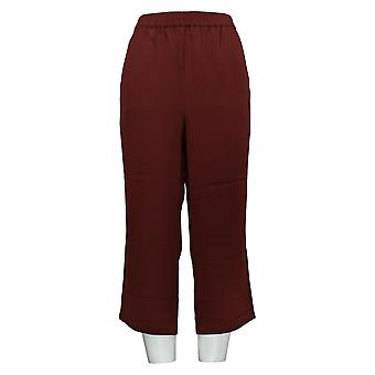 Linea by Louis Dell'Olio Women's Petite Pants Pull-On Crop Brown A341737