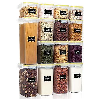 Contenitori per la conservazione degli alimenti ermetici set con coperchi, 15 pezzi, includono 24 etichette