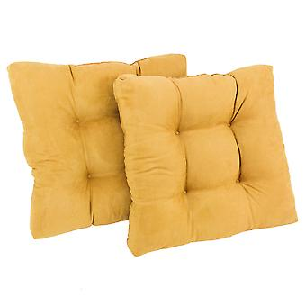 Cojín de silla de comedor con microsuede al cuadrado de 19 pulgadas (juego de dos) - Limón