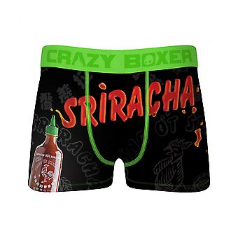 Crazy Boxers Sriracha Bottle and Text Boxer Briefs