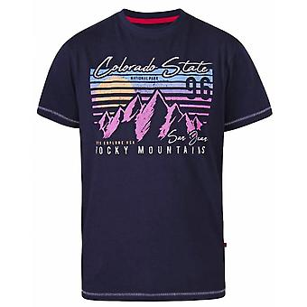 DUKE Duke - Camiseta do pescoço da tripulação das Montanhas Rochosas D555