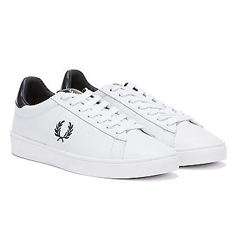 Fred Perry Spencer Leather Mens White / Navy Trainers