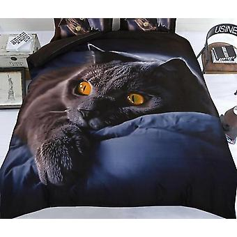3d Print Cartoon Cat Duvet Cover Set