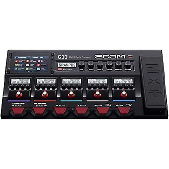 Zoom 11 gitar multi-effekter prosessor med uttrykk pedal, med berøringsskjerm grensesnitt, 100 + innebygde effekter, amp modellering, ir, looper, ps67751