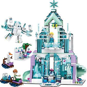 Frozen Anna Prințul Dragon și Pirncess Building Blocks Kit