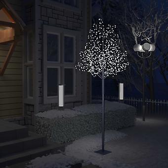 vidaXL شجرة عيد الميلاد 600 المصابيح الباردة ضوء أبيض الكرز أزهار 300 سم