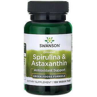 Swanson Bio Spirulina & Astaksantyna 120 Tabletten