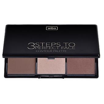 Wibo 3 Steps to Perfect Face dark Contour Palette