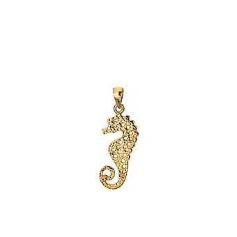 Sterling Silver Pendant Necklace - Origins Seahorse + Gold Plated