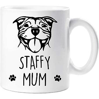 60 Second Makeover Staffy Mug Staffy Mum Pet Present Dog Lover Staffordshire Bull Terrier Mothers