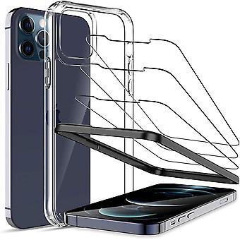 HaiFei Hlle mit Schutzfolie Kompatibel mit iPhone 12 Pro, 6.1 Zoll, 1 Hlle und 3 Schutzfolie mit