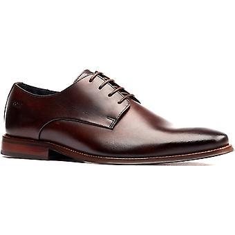 Base london men's marley plain toe derby schoen bruin 32250