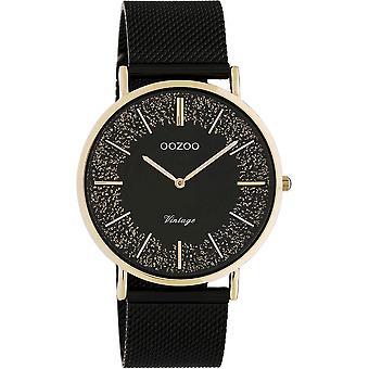 OOZOO Wristwatch Vintage Women's Black/Rose Gold C20142