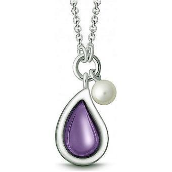 QUINN - Halskette - Damen - Silber 925 - Perle - Amethyst - Süßwasser - 27320933