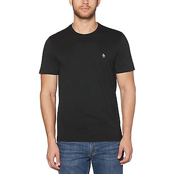 Original Penguin Pin Point Embroidery T-Shirt - True Black