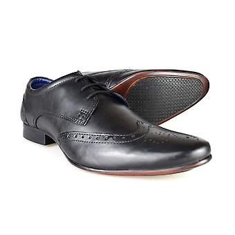 Silver Street London Fleet Mens Black Leather Formal Shoes