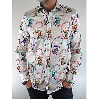 White Elephant Print Shirt