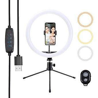10in/26cm Video LED Ring Light 2900-6500K