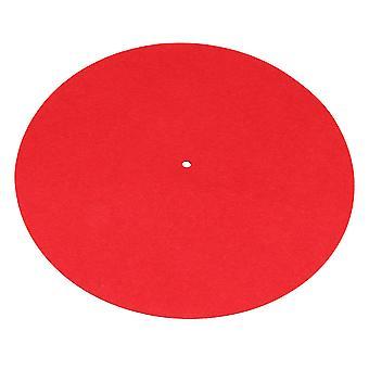 Fonogramas antiestáticos de 30 cm grabar almohadilla tocadiscos slip-mat fieltro rojo