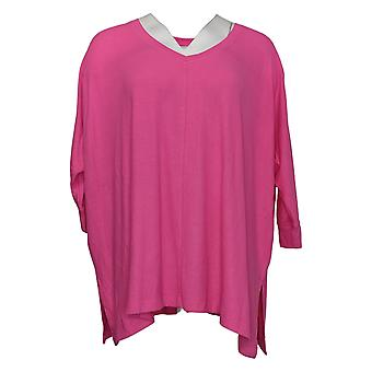 Laurie Felt Women's Top Ribbed Knit Pullover Pink A392627